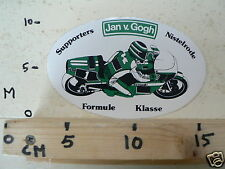 STICKER,DECAL KAWASAKI JAN V GOGH FORMULE KLASSE SUPPORTERS NISTELRODE