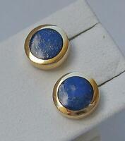 Ohrstecker in aus 750 18kt Gold mit Lapislazuli Ohrringe Stecker Lapis Damen
