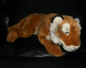 "22"" BIG FAO SCHWARZ TOYS R US TIGER WILD CAT 2015 STUFFED ANIMAL PLUSH TOY"