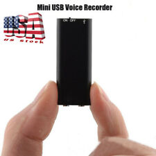 SMALL COVERT VOICE RECORDING DEVICE MINI HIDDEN SPY AUDIO SURVEILLANCE RECORDER