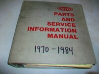 MTD Parts & Service Information Manual 1st Edition /Service bulletins/Addl info