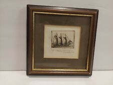 Lot of 3 Framed Art Pieces 3 Masted Ship Mark Whitcomb New York Kitchen Shelf
