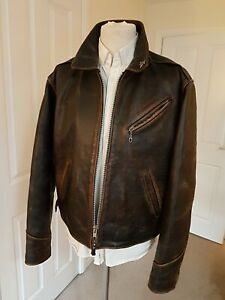 VINTAGE HARLEY DAVIDSON LEATHER MOTORCYCLE JACKET SIZE XL  MADE IN USA
