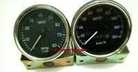 Smiths replica 85 mm speedometer clock wise kph and Tachometer Mechanical