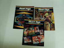 ATARI AGE Magazine LOT (3) 1982/1983/1984 Issues ~Acceptable Condition AUCT#3577