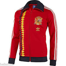 nwt~Adidas SPAIN Track Top CLASSIC World Cup sweat jersey shirt Jacket~Mens sz S