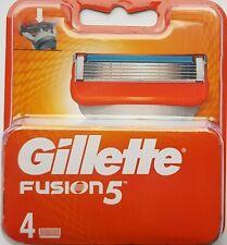 GILLETTE FUSION 5 Razor Blades 4 Pack 100% GENUINE ORIGINAL FREE SHIPPING