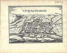 Antique map, Vitry-le-Francois