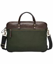 Fossil Men's Haskell Briefcase Green MBG9369300 NEW W/TAG