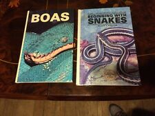 2 Hardcover Books About Snakes