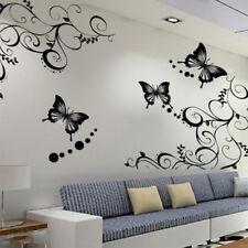 Mariposa Flores citar Pared Adhesivos De Vinilo De Art habitación extraíble