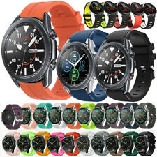 For Samsung Galaxy Watch 3 45mm 46mm S3 Frontier Sport Silicone Wrist Band Strap