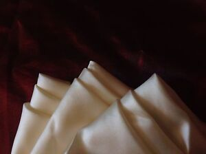 "SET OF 3 OFF WHITE{ IVORY} 16"" x 16 ""*ALL SILK*  POCKET SQUARES; NEW and SEALED"