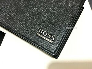 HUGO BOSS 'MONAD' MEN'S TRIFOLD WALLET BLACK BOXED
