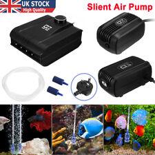 More details for aquarium fish tank air pump quite silent flow oxygen bubbles stone outlet valve