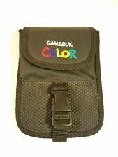 Vintage Nintendo Gameboy Color Carrying Case Travel Bag Pouch Black