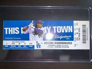 2010 LA Dodgers Opening Official Ticket Stub vs Diamondbacks 4/13 Kershaw win!