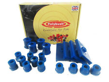 Polybush Vehicle Bush Set (Comfort) for MG B & B GT, 1962-1980: Kit38-Blue