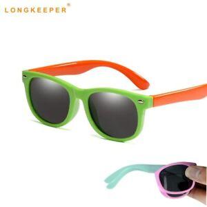 Flexible Polarized Kids Sunglasses Child baby Toddler Sun Glasses for Girls Boy