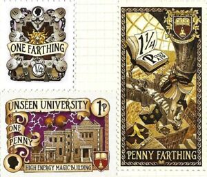 Discworld Stamp Unseen University Farthing Penny 2015 Book Library Retired Sport