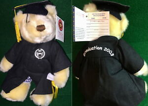 "Tokyo Aoyama Gakuin University 2003 GRADUATION 10"" TEDDY BEAR Plush Herrington"