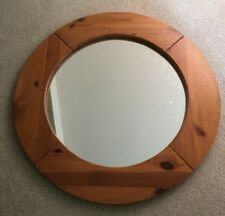 Large Handmade Round Wall Mirror - 60cm Diameter, Country House