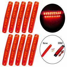 10X 9 Red Sealed Led Side Marker Clearance Light For Truck Trailer Lorry Bus 24V