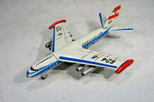 DDR Blechspielzeug Flugzeug - MSB SG 562 mit Friktionsantrieb - 28cm