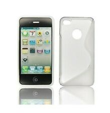 Housse Silicone Coque Etui IPHONE 4 4S Blanc Design