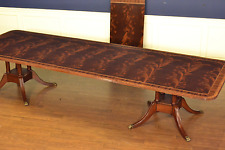 Leighton Hall Large Banquet Traditional Mahogany Dining Table 14 ft.