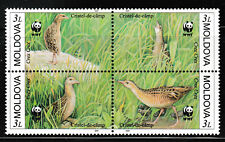 Corncrakes Birds block of 4 mnh stamps 2001 Moldova #370