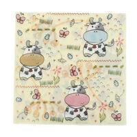 20pcs Cartoon Cow Paper Napkins Party Tissue For Birthday/Wedding Party Decor  Z
