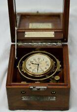 HAMILTON MODEL 22, 21 JEWEL SHIPS CHRONOMETER CLOCK W/WOOD CASE - NO RESERVE