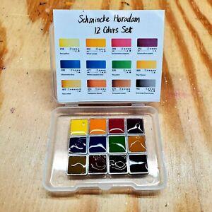 Schmincke Horadam Watercolor Limited Edition Anniversary Sample Set 12 Colors