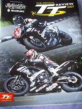 TAS implacable Suzuki Racing Team Multi Firmado oficial TT 2007 libro de revisión.