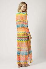 Topshop Aztec Surf Print Maxi Dress UK Size ( L ) RRP- £36
