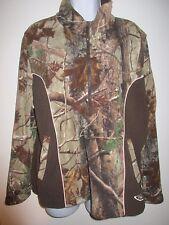 Women's Realtree Pink & Brown Camo 1/2 Zip Up Fleece Jacket XL*