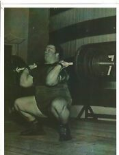 Weightlifting Strongman Photo Paul Anderson Bodybuilding Muscle B&W