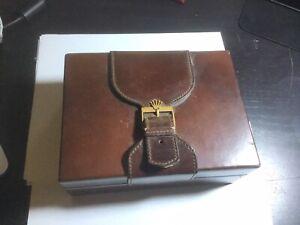 Vintage Rolex President Box 71.00.04 - Brown leather & wood