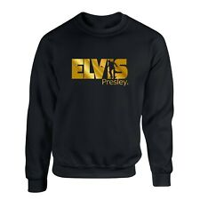 Elvis Presley Sweater Gold Print King Pop-Rock Music Fashion Unisex Sweatshirt