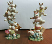 Bunny Rabbit Figurines Crazy Mountain for Carlton Cards Decoration Easter