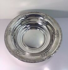 """FISHER STERLING ROSE BOUQUET 9"""" BOWL 226 GRAMS/ 7.26 TR OZ"""