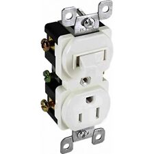 Orbit RTS15-I 15A Single Pole Stack Switch with Receptacle IVORY (shown White)