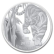2018 South Korea 1 oz .999 Silver Tiger (in capsule, 30,000 mintage)