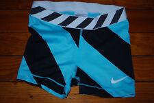 Nike Pro Combat DriFit Mint Aqua & Black Compression Shorts Tights (Small)