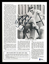 """Vince Lombardi Autographed Signed 1968 Yearbook Packers """"To Doug"""" Beckett A53417"""