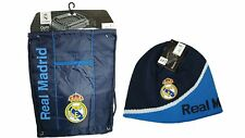 Real Madrid C.F. Official Licensed Soccer Cinch Bag & Beanie Combo 06-3