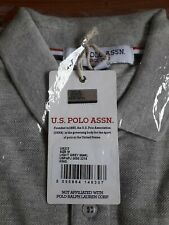 Brand New Mens Grey Marl US Polo Assn polo shirt Size M