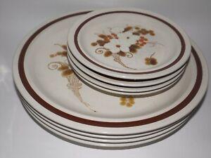 Four Seasons Collection Dinner & Side Plates BULK LOT ReTRo Stoneware c.1970