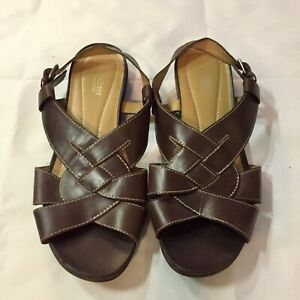 Naturalizer Women's Leather Sandals Sz 10W Gently Used